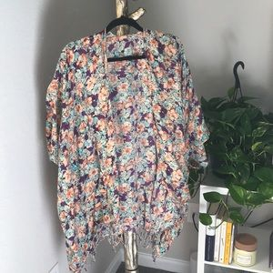 LF Swim - LF floral oversized cover up